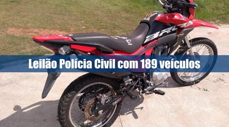 Leilão da Polícia Civil está aberto pela leiloeira Rebocar