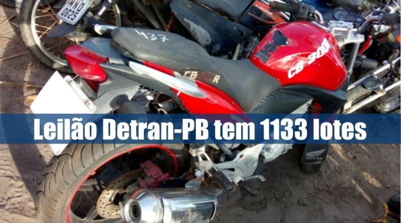 Detran-PB abre novo leilão online com 1133 lotes apreendidos