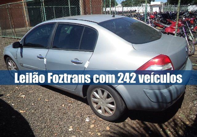 Leilão online Foztrans tem 242 veículos