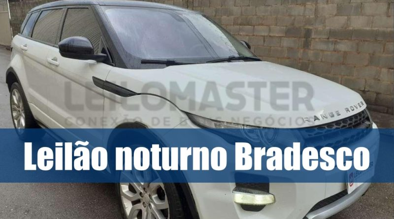 Leilão noturno Bradesco tem diversos veículos recuperados de financiamento