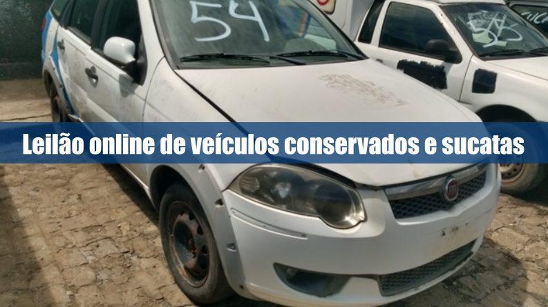 Leilão de veículos sucatas e conservados pela internet