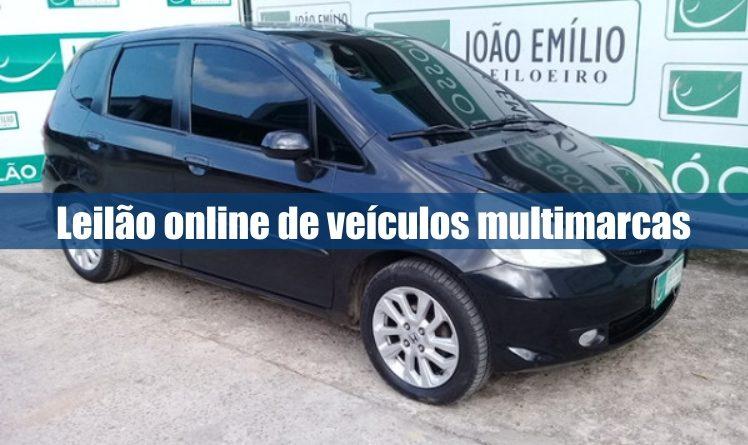 Leilão online de veículos multimarcas pela leiloeira João Emílio no Rio de Janeiro