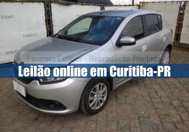 Leilão online de veículos em Curitiba-PR