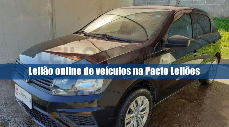 Leilão online da Pacto leilões tem 60 veículos recuperados de financiamento