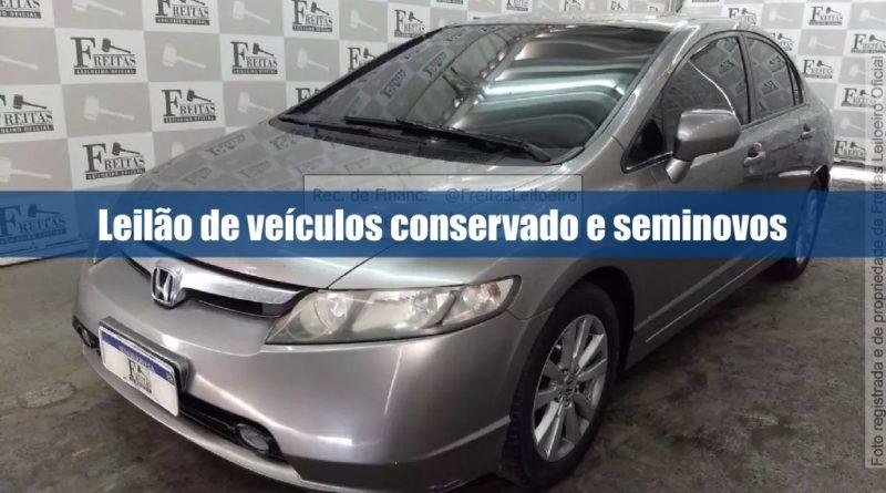 Leilão de veículos conservados na leiloeira Freitas