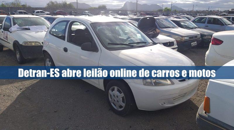 Leilão online Detran-ES com 100 carros e motos conservados