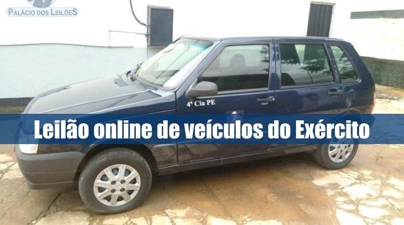 Leilão online de veículos pertencentes ao Exército Brasileiro