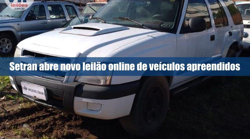 Setran abre novo leilão online de veículos apreendidos