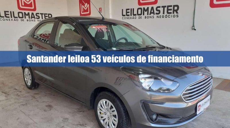 Leilão de veículos recuperados de financiamento pelo Santander